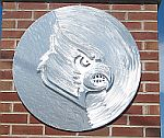 university of louisville cards logo head sculpture in brushed aluminum