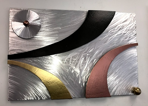 metal wall art wall sculpture made by a artist tony Viscardi