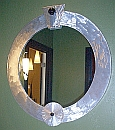round mirror, large round mirror,contemporary mirror by artist Tony Viscardi