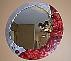 contemporary sexy mirror in metal, mirror, mirrors, abstarct mirror